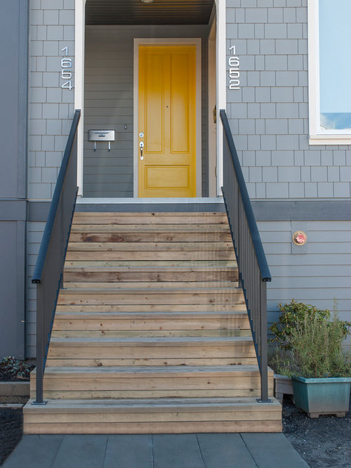 44 Small Entryway With A Yellow Front Door Design Ideas .