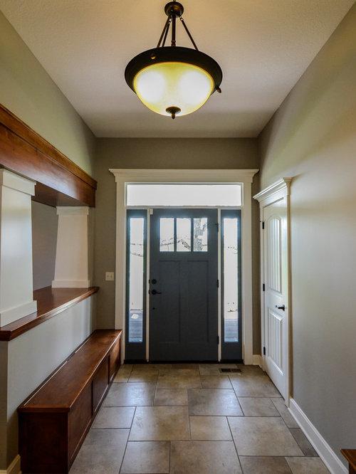 porte d 39 entr e campagne avec un sol en carrelage de c ramique photos et id es d co de portes d. Black Bedroom Furniture Sets. Home Design Ideas
