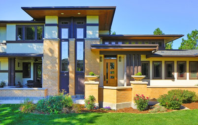 Houzz Tour: Touches of Frank Lloyd Wright in Colorado
