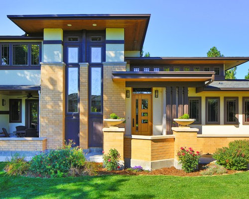 frank lloyd wright style entry houzz prairie style house fairfield heritage tour