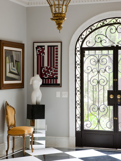 wrought iron front doorsGlass And Wrought Iron Entry Doors  Houzz