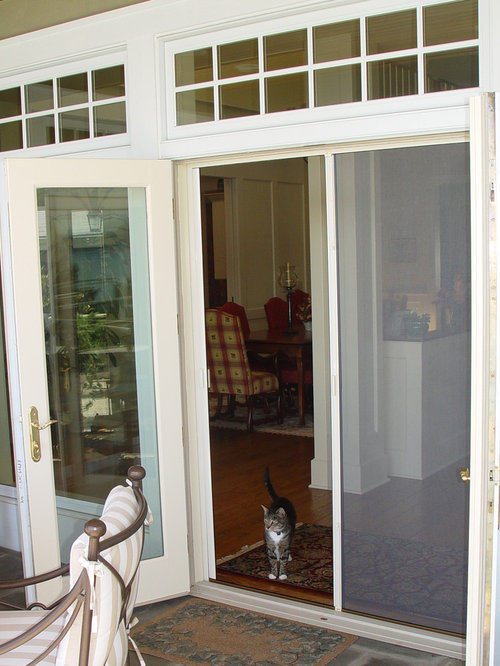 French door double retractable screen for Retractable double screen door