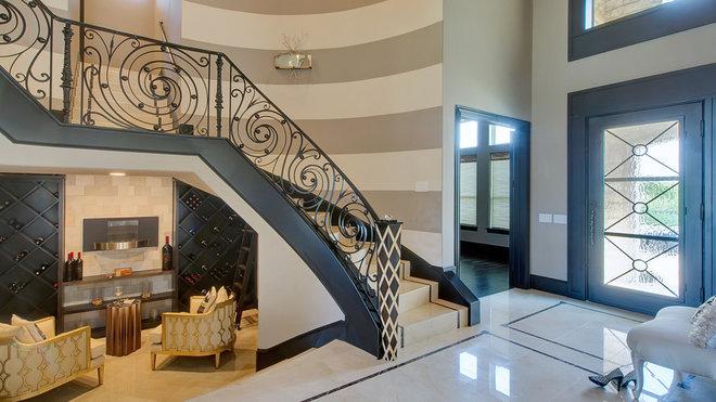 Modern Entry by Hensley Premier Builders