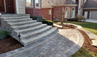 Front brick step entry