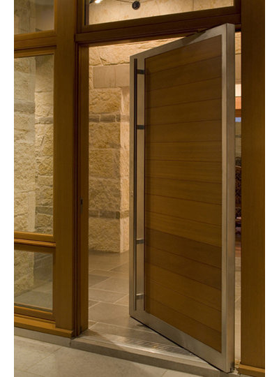 Modern Entry by Furman + Keil Architects & Entryway Appeal Can Hinge on a Pivot Door Pezcame.Com