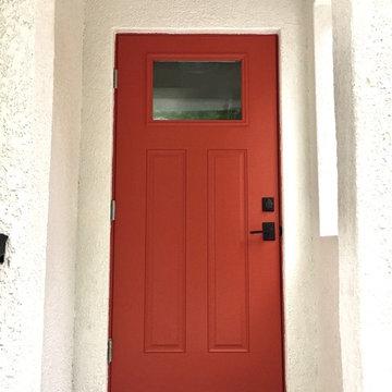 Front Door Historic Mediterranean Bungalow Remodel Project, Sarasota, Florida