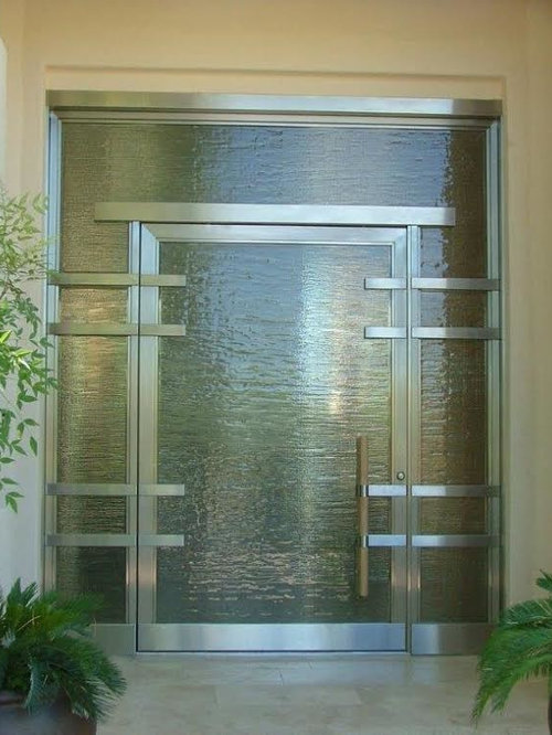 75 Modern Front Door With A Glass Front Door Design Ideas Stylish