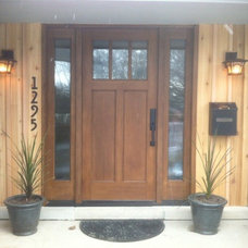 Contemporary Entry by Fingerle Lumber