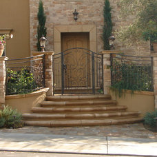 Mediterranean Entry by Mclaughlin Landscape Construction