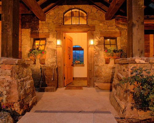 Houzz Rustic Foyer : Rustic entryway design ideas remodel pictures houzz