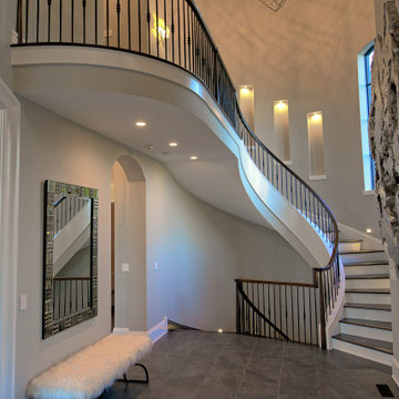 Front Entry Sweeping Stairway