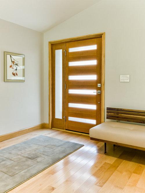 foto e idee per porte d'ingresso - porta d'ingresso moderna con ... - Porta Dingresso In Legno Massello
