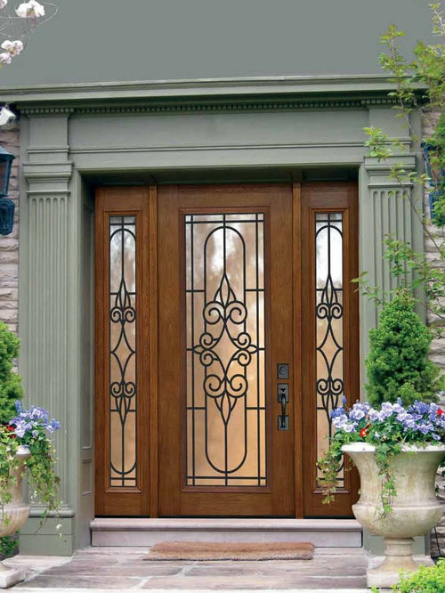 Wrought Iron Wood And Fiberglass Doors
