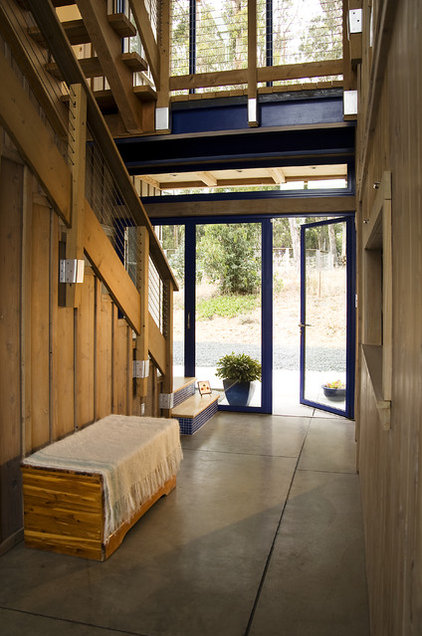 contemporary entry by Leonard Grant Architecture
