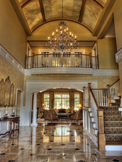 High ceiling entryway design ideas renovations photos for Foyer ceiling design
