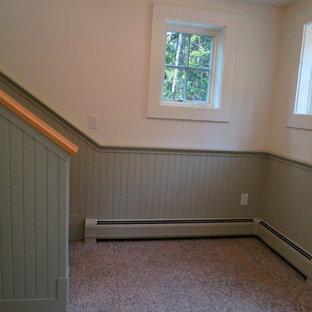Garage apartment in green wainscotting