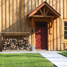 Rustic Entry by Sand Creek Post & Beam