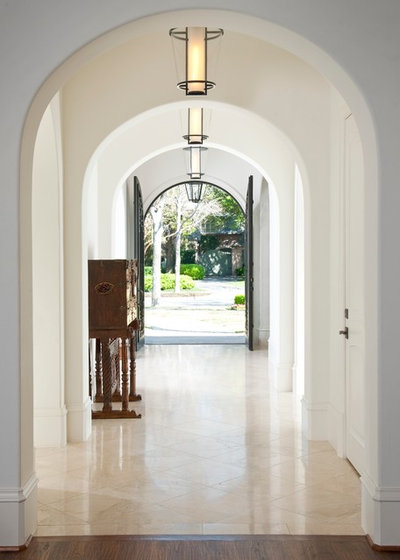 Mediterranean Entry by TATUM BROWN CUSTOM HOMES