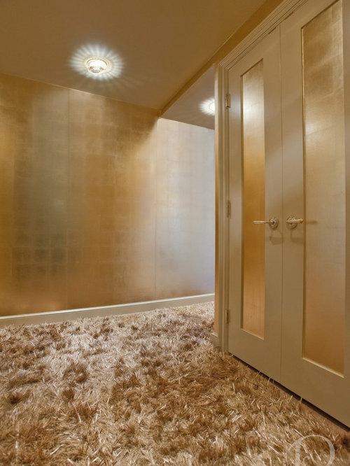 Entr e avec un sol en moquette et mur m tallis photos for Moquette hall d entree