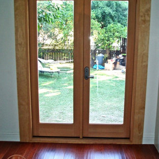 Glass and Wood Double Back Door | Los Angeles