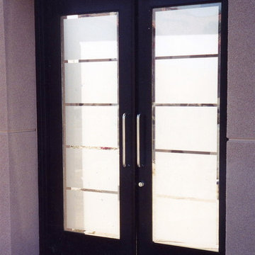 Glass Doors - Frosted Glass Front Entry Doors - GRAND FROSTED