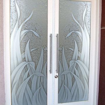 Glass Front Doors - Glass Entry Doors Sandblast Frosted - Reeds 3D GC