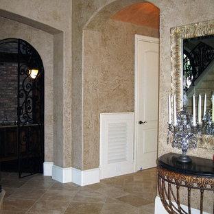 Glazed Plastered Entry Walls