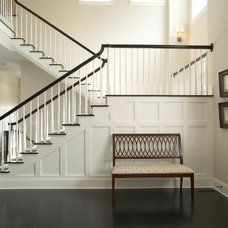 transitional entry by Martha O'Hara Interiors