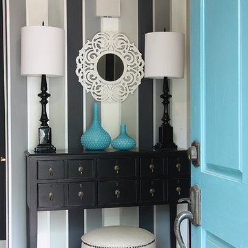 Gray, Black, and White Entry