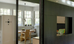 Green Gambrel Breakfast Area and Home Office