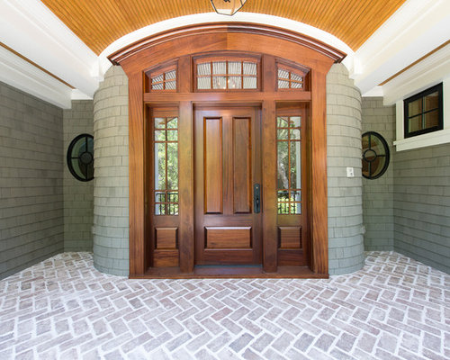 Front door with side panels ideas pictures remodel and decor for Traditional main door design