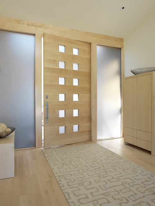 Entryway   Mid Sized Contemporary Light Wood Floor Entryway Idea In San  Francisco With A
