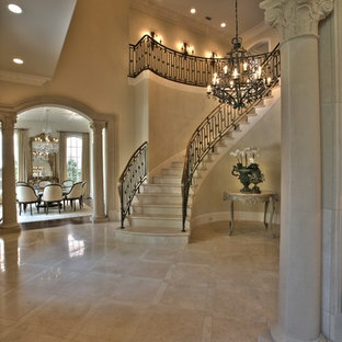 Inspiration for a timeless entryway remodel in Dallas