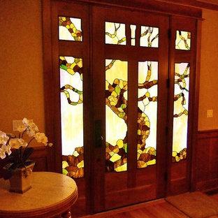 Greene & Greene Inspired Stained Glass Door