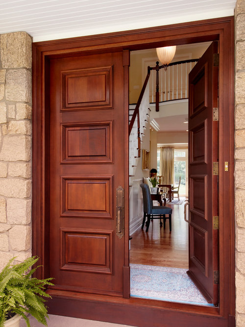 Double doors houzz for House front double door design
