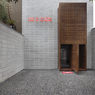 Example of a minimalist entryway design in Other