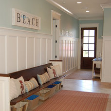 Beach Style Entry by Dixon Kazek Morrison Custom Homes