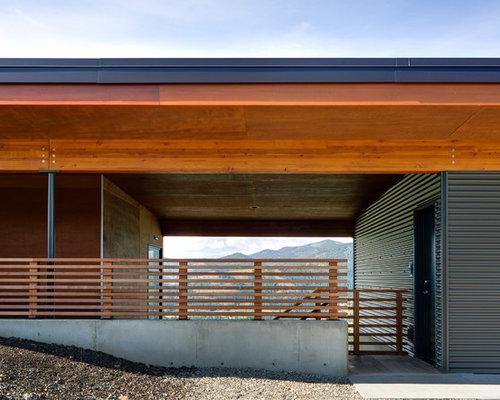 Vestibule contemporain avec une porte simple photos et for Amenagement vestibule maison