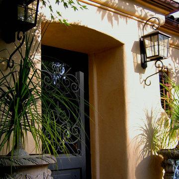 Hacienda Iron Door Entrance in Montecito