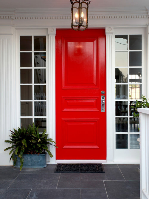 Entrance Design Ideas Renovations Photos With A Red