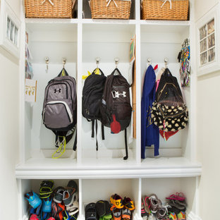 Gentil Mudroom   Traditional Mudroom Idea In Miami With White Walls