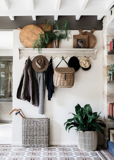 Traditional Entrance by Lisa Burdus Interior Design