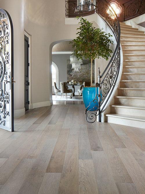 gray wood flooring home design ideas