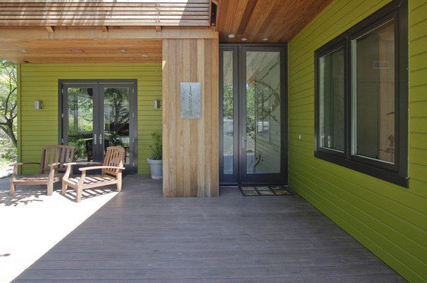 Contemporary Entry Hardy Group Builders