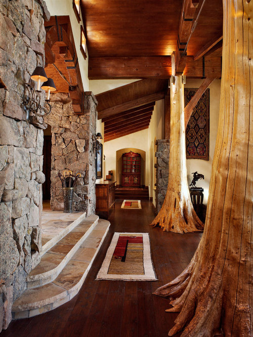Tree Trunk Columns Houzz