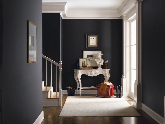 Traditional Entry by Sherwin-Williams