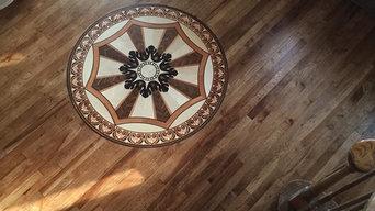 Hickory Flooring Inlay