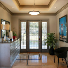 Contemporary Entry by Lionel F Bailey AIA Architect LLC