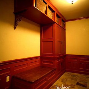 High-End Cloak Room with Well Appointed Wainscot