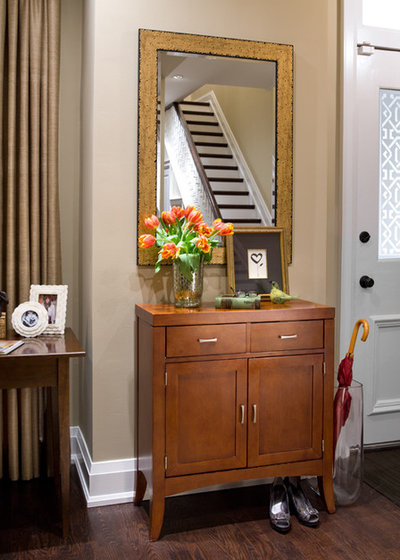 Traditional Entry by Lisa Ferguson Interior Design